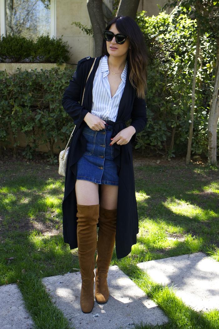 paula fraile la gavia modelo street style zara shirt overthe knee boots amaras la moda