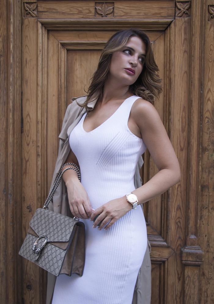 vestido Michael Kors bolso gucci trench La redoutte amaras la moda Paula Fraile2