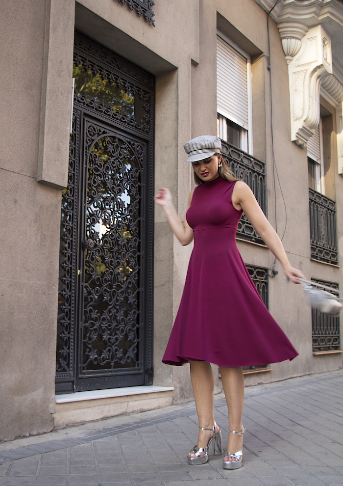 vestido gorra zara bolso michael kors pendientes acus complementos amaras la moda paula fraile11