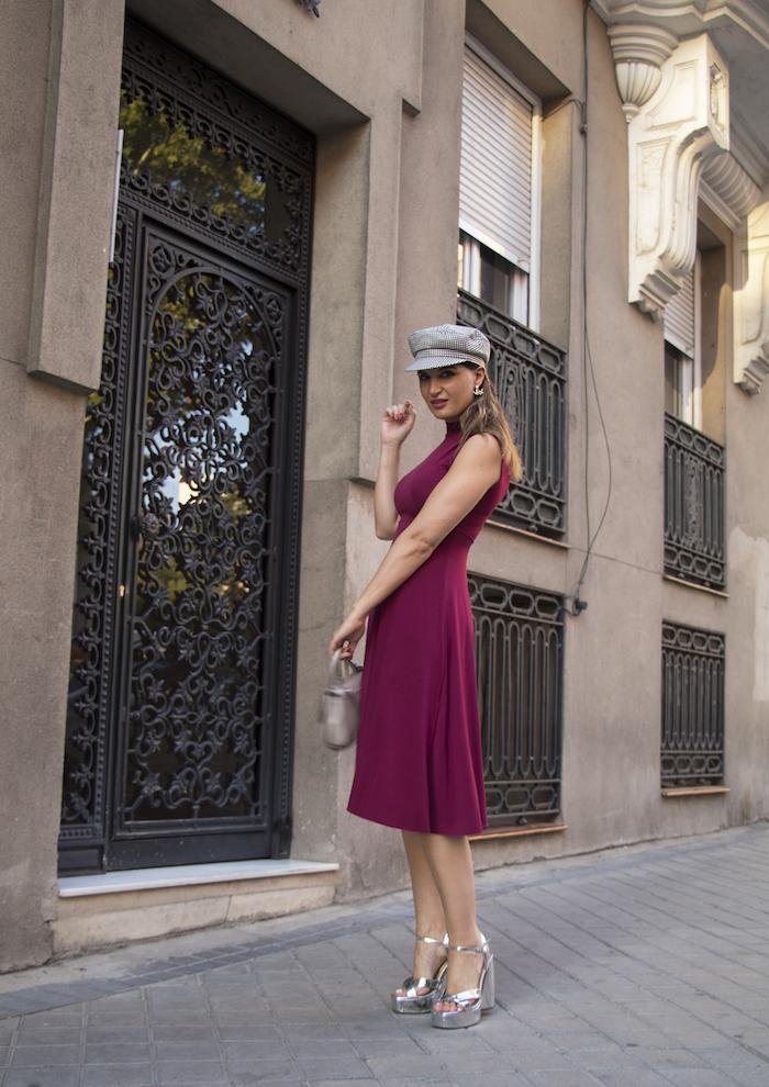 vestido gorra zara bolso michael kors pendientes acus complementos amaras la moda paula fraile12