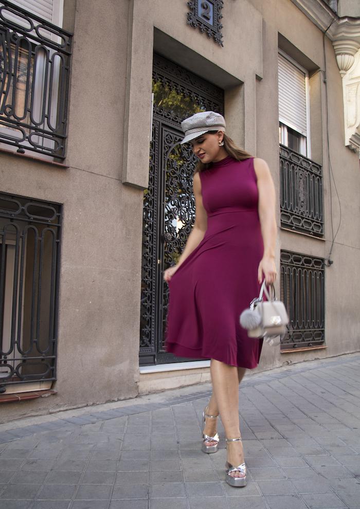 vestido gorra zara bolso michael kors pendientes acus complementos amaras la moda paula fraile13