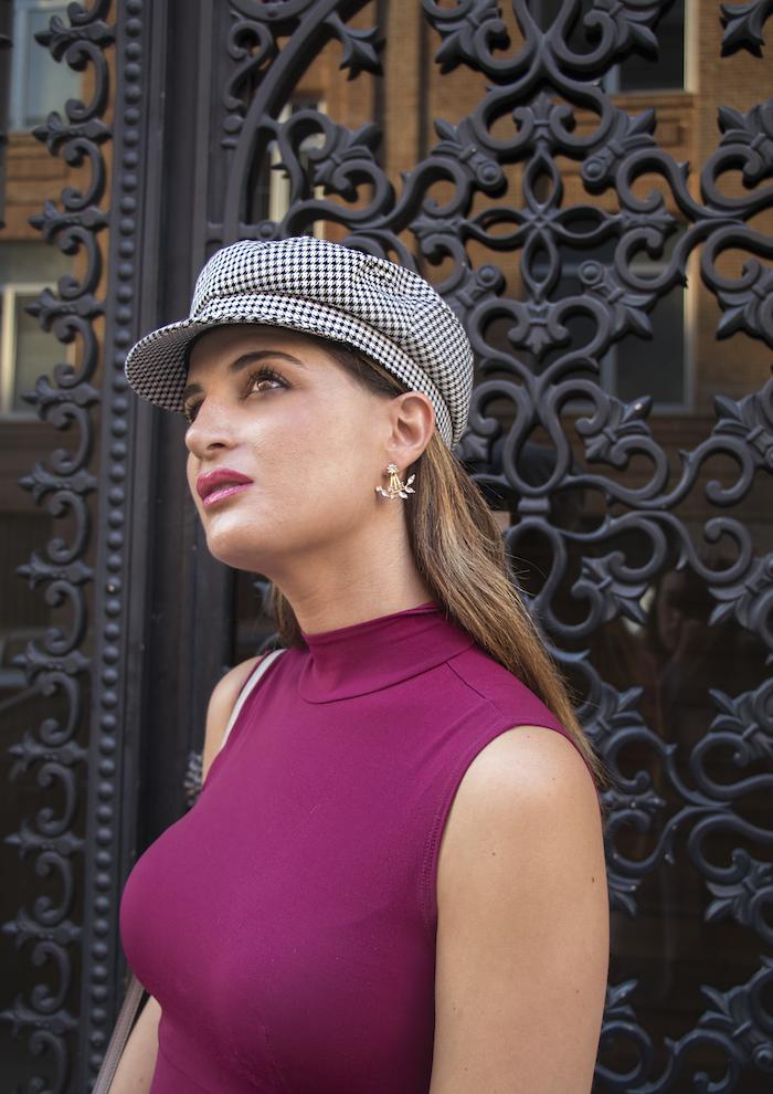 vestido gorra zara bolso michael kors pendientes acus complementos amaras la moda paula fraile3