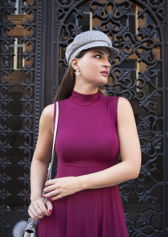 vestido gorra zara bolso michael kors pendientes acus complementos amaras la moda paula fraile5