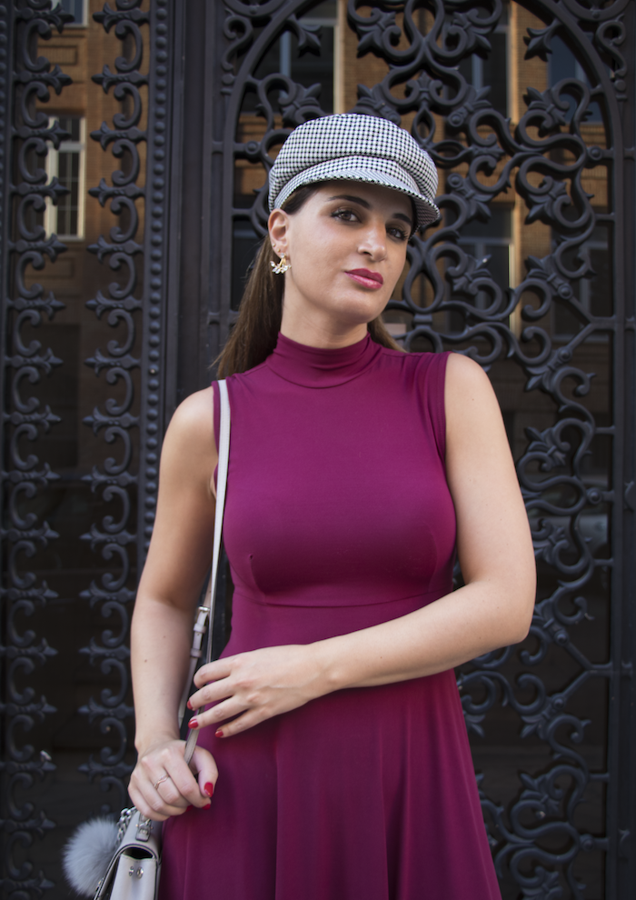 vestido gorra zara bolso michael kors pendientes acus complementos amaras la moda paula fraile6