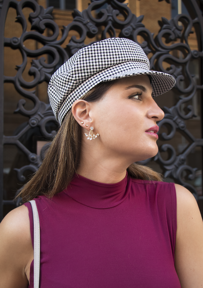 vestido gorra zara bolso michael kors pendientes acus complementos amaras la moda paula fraile7
