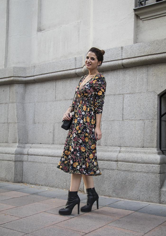 vestido flores prendientes pendientes acus amaras la moda paula fraile2